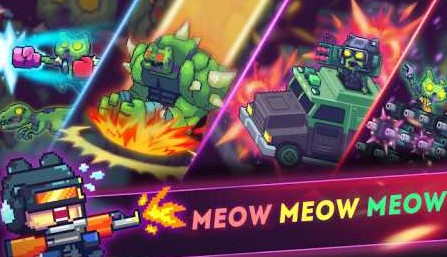 Cat Gunner: Super Force (Pixel Zombie Shooter) 1.7.0 Apk + Mod